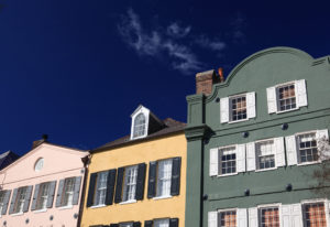 rainbow row south of broad in Charleston, SC